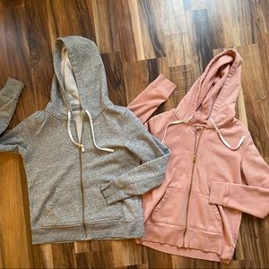 Old Navy Two Pink & Gray Hoodies Sz S